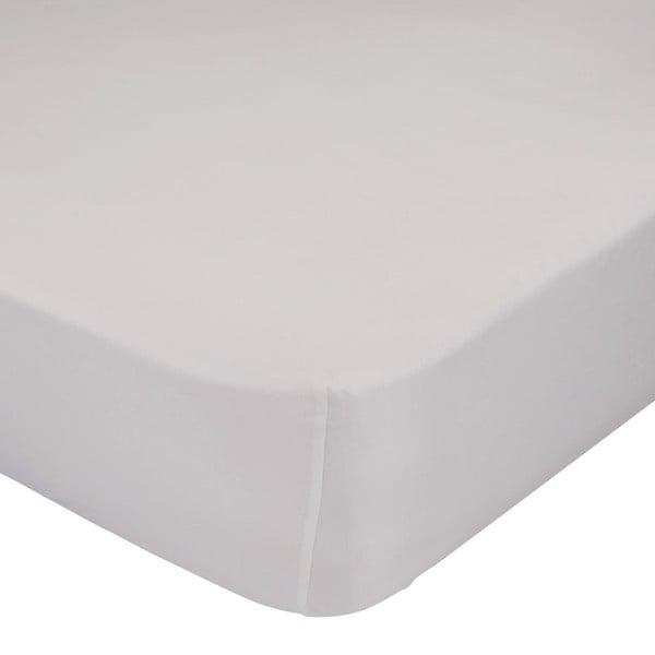 Béžové elastické prostěradlo z čisté bavlny, 60 x 120 cm