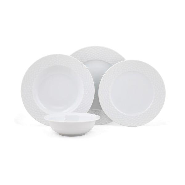 24-częściowy zestaw talerzy porcelanowych Kutahya Guhlo