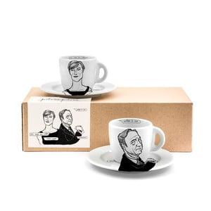 Set 2 hrnků s talířky House of Coffee