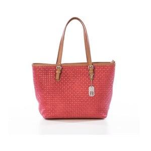 Červená kabelka z pravé kůže Federica Bassi Puro