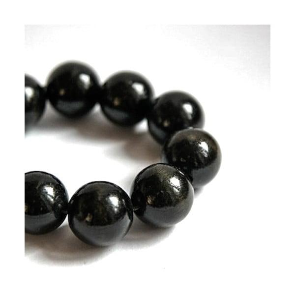 Černý dřevěný náramek Ko–ra–le Bubbles