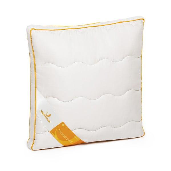Bílý polštář s vlnou merino Lana Green Future, 37x37cm