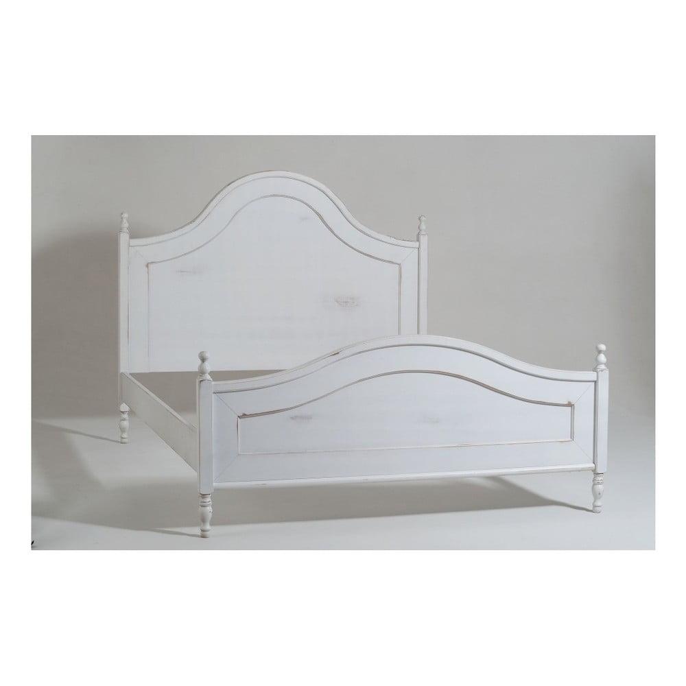 Bílá dvoulůžková dřevěná postel Castagnetti Nadine, 160 x 200 cm