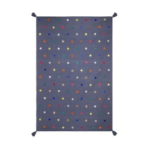Ručně tkaný modrý koberec Art For Kids Stars, 140x200cm