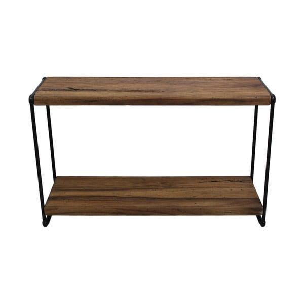 Konsola z drewna tekowego i metalu HSM collection Lilienne