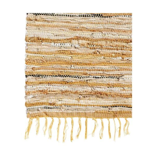 Kožený koberec Nordal 110x170 cm, hnědý