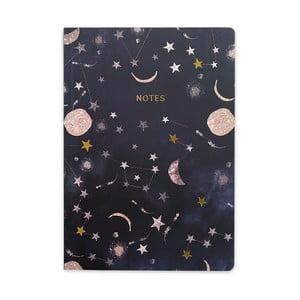 Černý zápisník GO Stationery Constellations