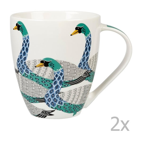Sada 2 ks hrnků Churchill China Paradise Swans, 500 ml