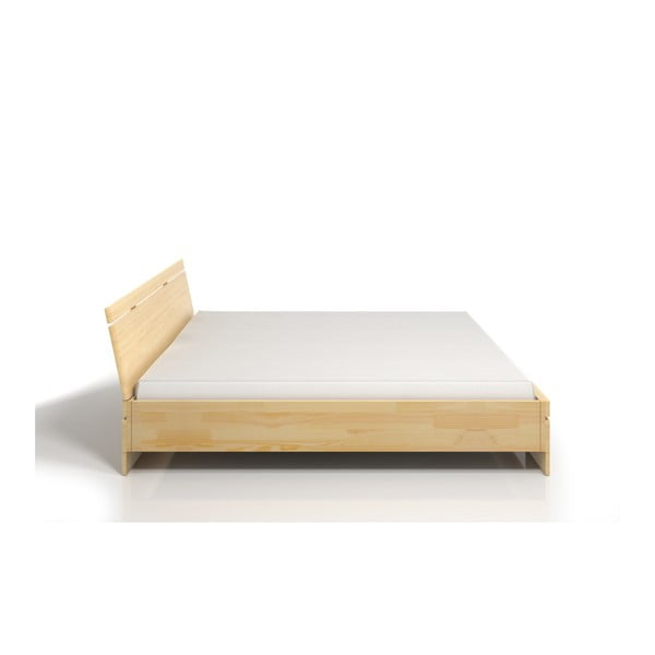 Pat dublu din lemn de pin, cu spațiu de depozitare, SKANDICA Sparta Maxi, 200 x 200 cm