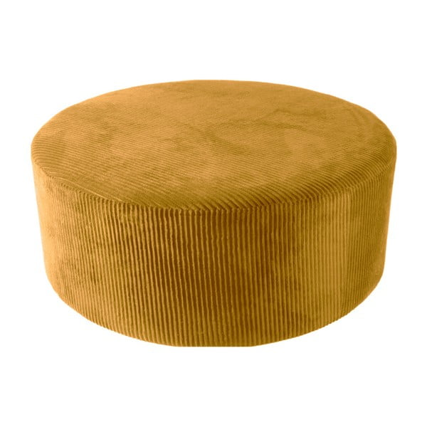 Glam sárga kordbársony puff, 90 x 35 cm - Leitmotiv