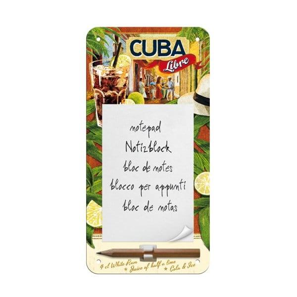 Zápisník na lednici Cuba