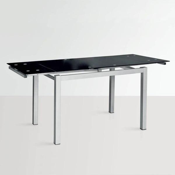 Rozkládací jídelní stůl Queen, 110-170 cm, černý