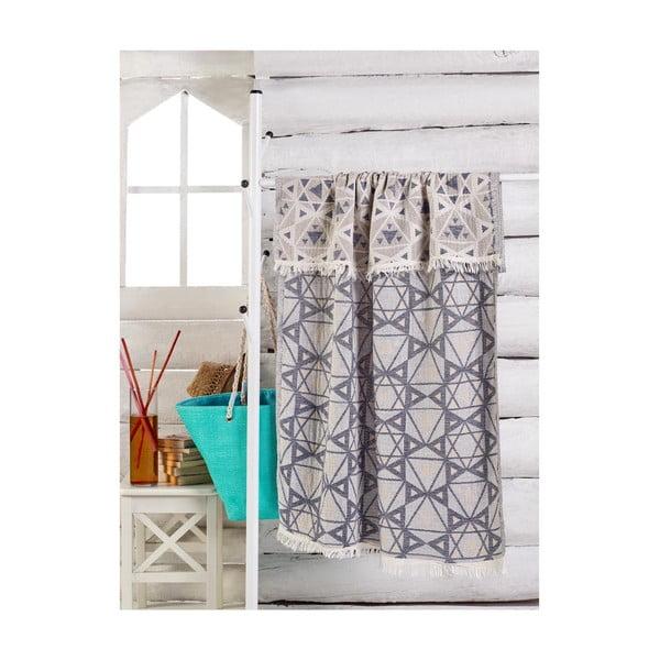 Modro-bílý ručník, 180 x 100 cm