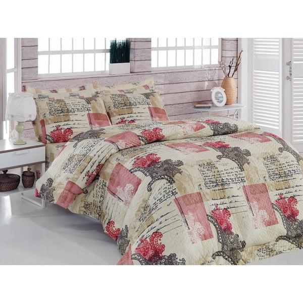 Sada prošívaného přehozu přes postel a dvou povlaků na polštář Seasons 232, 220x230 cm;