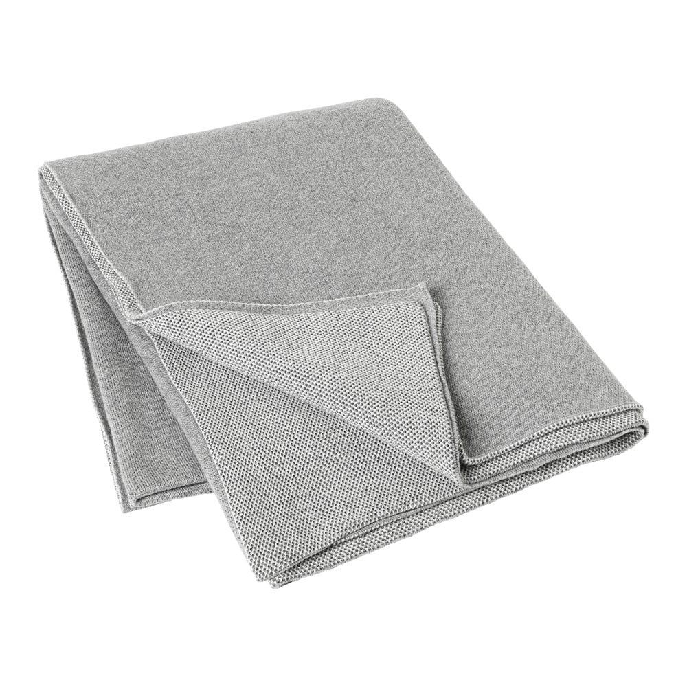 Světle šedá bavlněná přikrývka Blomus, 130x170cm