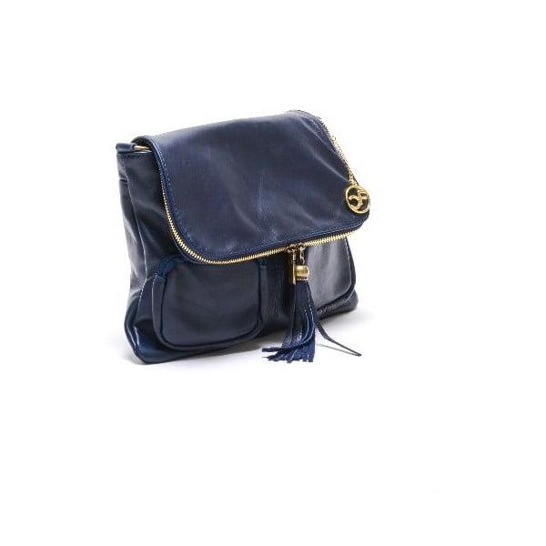 Kožená kabelka Carla Ferreri 2113 Blu Scur