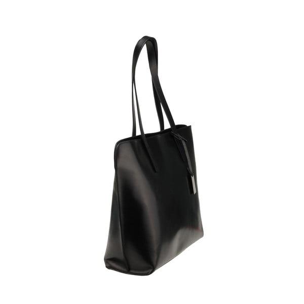 Kožená kabelka Vega, černá
