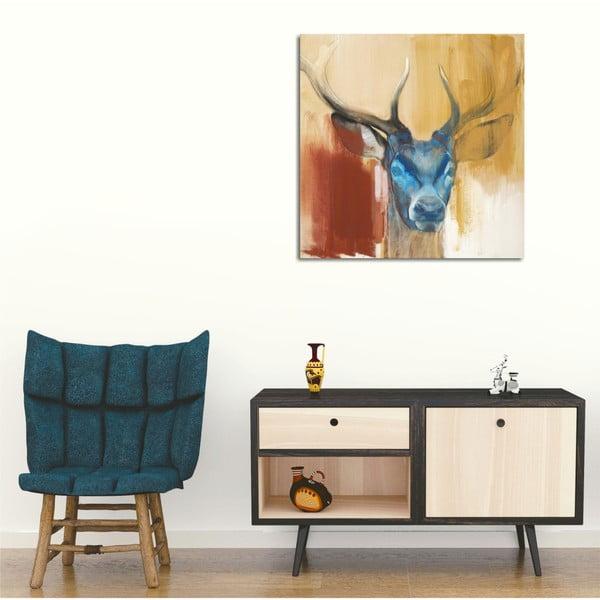 Obraz na płótnie Colorful Deer, 45x45 cm