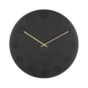 Černé nástěnné hodiny Karlsson Vigorous, ⌀40 cm