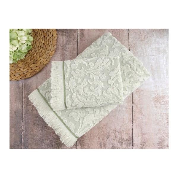 Sada 2 zelených ručníků Irya Home Royal, 50x90 cm
