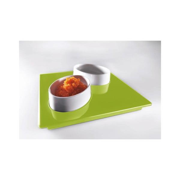 Zelený servírovací set Entity, 15x15 cm