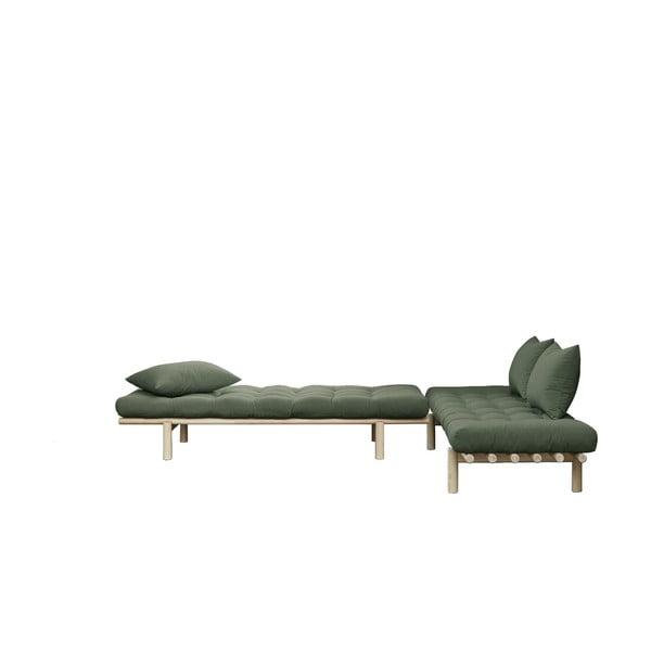 Pohovka se zeleným potahem Karup Design Pace Natural/Olive Green