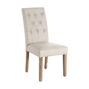 Krémová jídelní židle Ixia Silla Gris