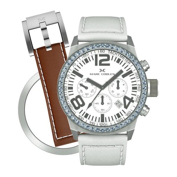 Dámské hodinky Marc Coblen s páskem a kroužkem navíc P103