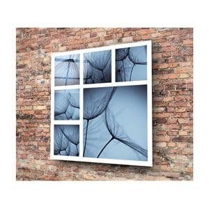 Skleněný modrý obraz 3D Art Harmo, 30x30cm