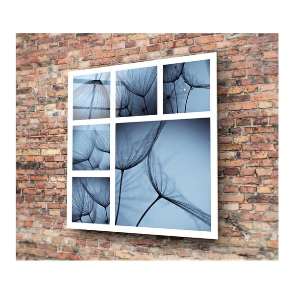 Sklenený modrý obraz 3D Art Harm, 30×30 cm