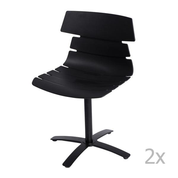 Sada 2 černých židlí D2 Techno One