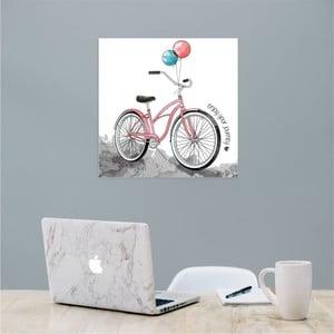 Nástěnný samolepicí obraz North Carolina Scandinavian Home Decors Bike, 30 x 30 cm