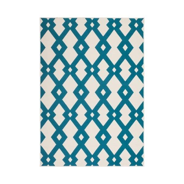 Modro-bílý koberec Kayoom Stella 100 Blue, 80x150cm