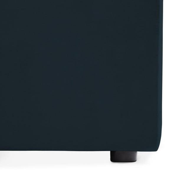 Námořnicky modrý pravý rohový modul pohovky Vivonita Velvet Cube