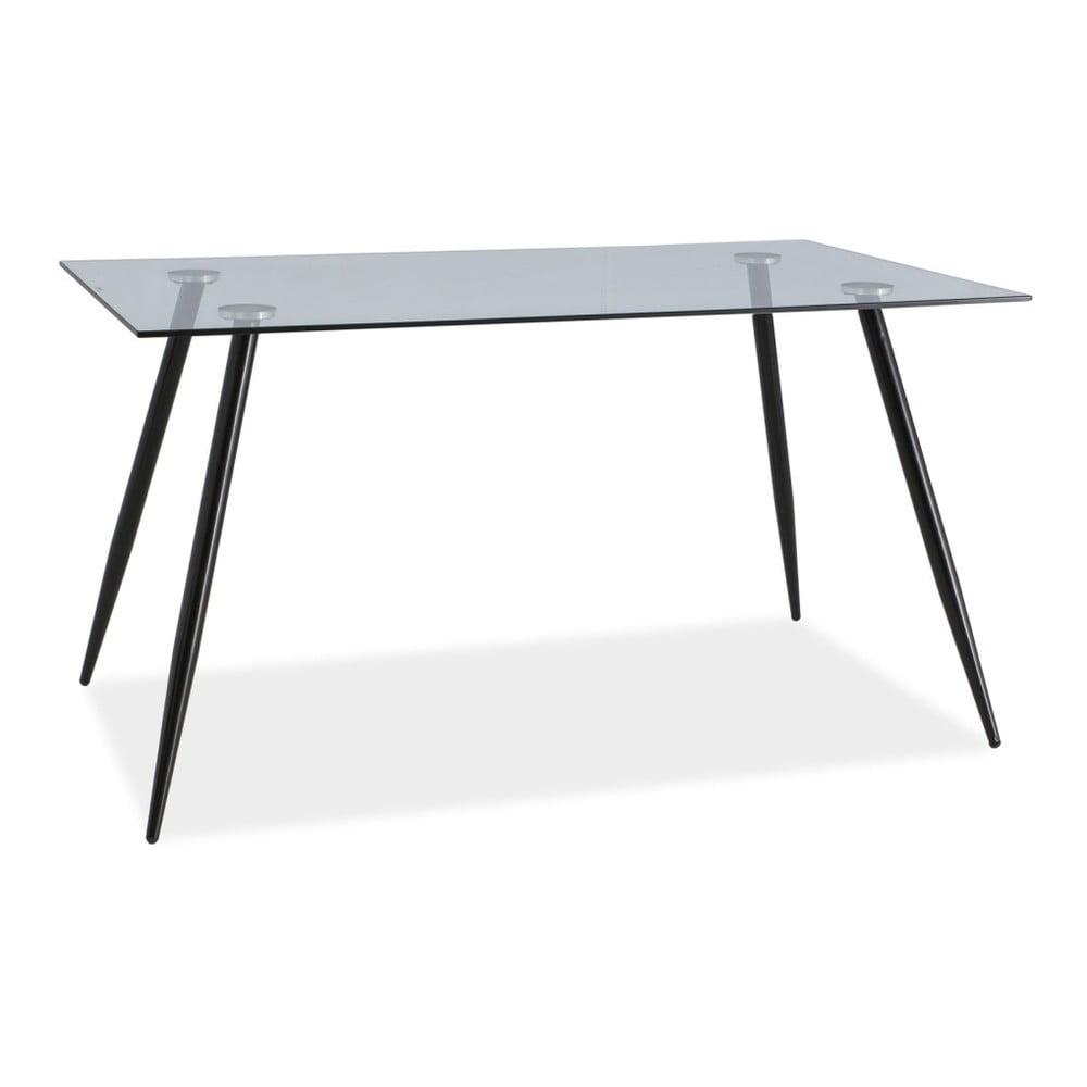Jídelní stůl s ocelovou konstrukcí a skleněnou deskou Signal Nino, délka140cm