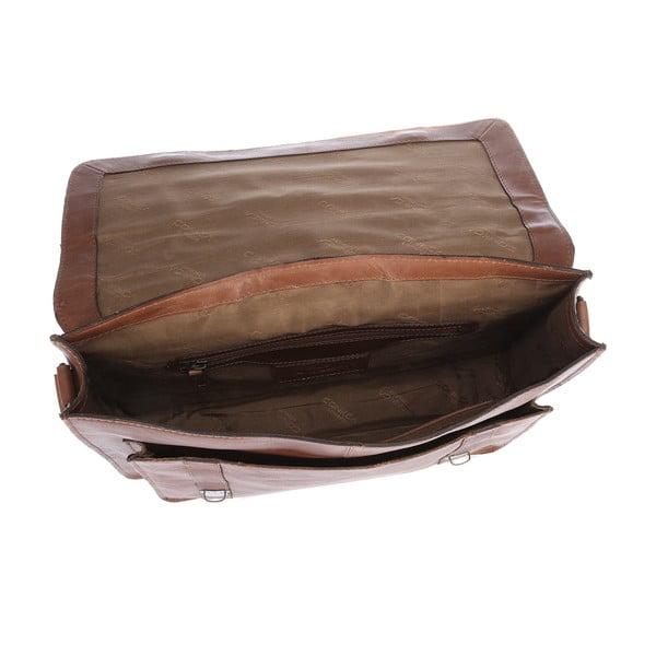Pánská kožená taška Ealing Chestnut Satchel
