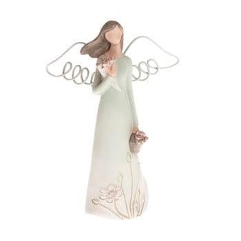 Decorațiune în formă de înger cu coș Dakls, înălțime 13 cm imagine
