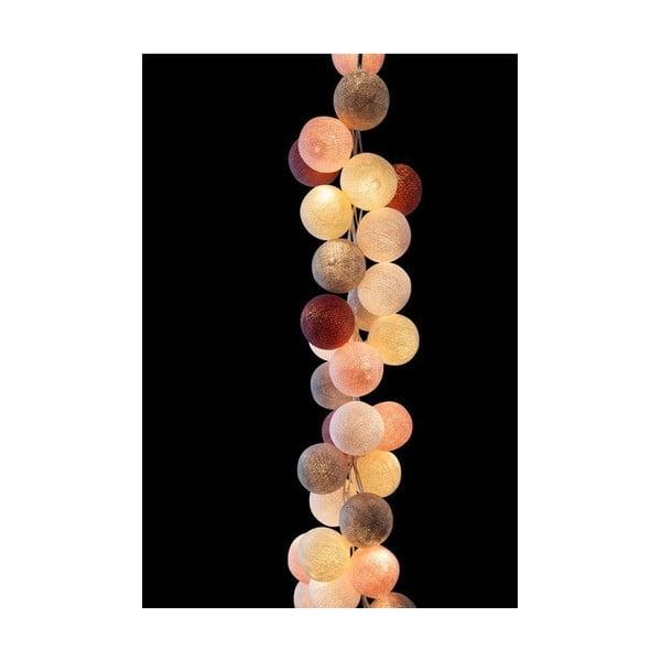 Světelný řetěz Marshmallow, 50 ks světýlek