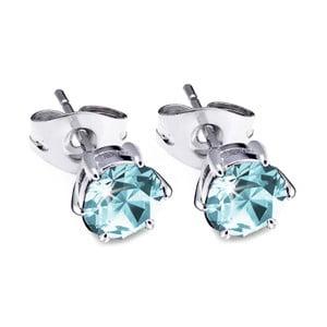 Náušnice s modrozelenými krystaly Swarovski® GemSeller