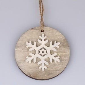 Závěsná vánoční dekorace ve tvaru vločky Dakls Eugene