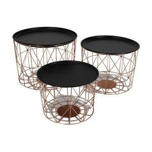 Set 3 stolků Iron Copper