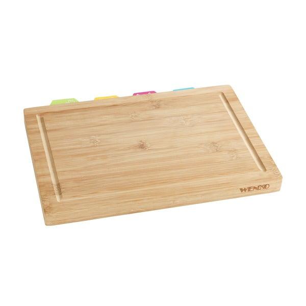 Deska do krojenia z drewna bambusowego Wenko, 32,5x22,5 cm
