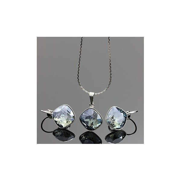 Set Swarovski Elements Glass Light Blue