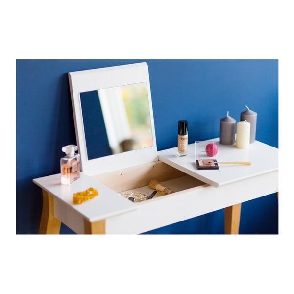 Tmavě šedý toaletní stolek se zrcadlem Ragaba Dressing Table,délka85cm