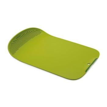 Tocător din plastic Joseph Joseph Chop&Drain, verde imagine
