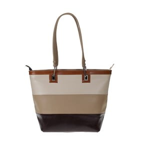 Hnědá kožená kabelka Giulia Bags Carley