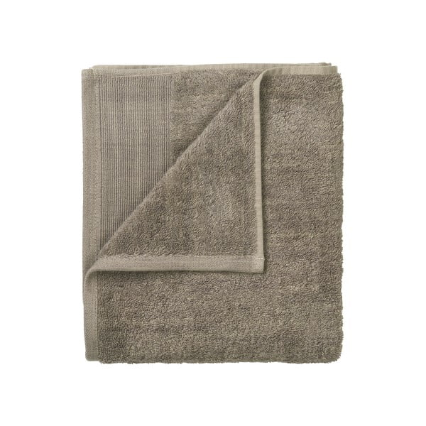 Sada 4 hnědých bavlněných ručníků Blomus, 30x30cm