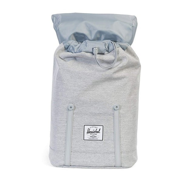 Světle šedý batoh se šedými popruhy Herschel Retreat