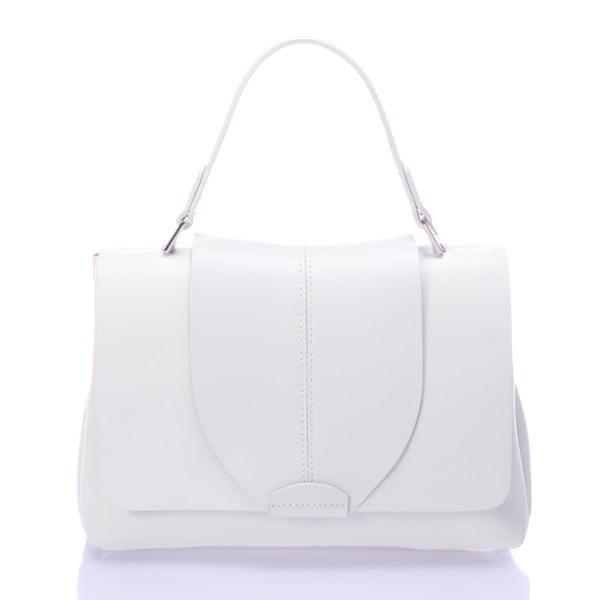 Kožená kabelka Mijoria, bílá