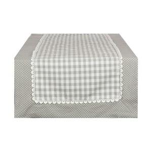 Běhoun Basic Hearts 50x140 cm, šedý